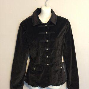 WHBM Black Velvet Blazer Size 12